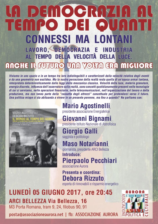 La democrazia al tempo dei quanti - 5 giugno a Milano
